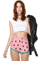 Lazy Oaf Watermelon Denim Shorts