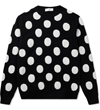 Ami Black White Round Neck Dotted Sweater Hypebeast Store. Shop Online For Men's Fashion Streetwear Sneakers Accessories