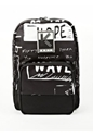 Men's Black Text Print Rucksack