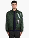 Raf Simons X Fred Perry Men's Stripe Detail Bomber Jacket Oki Ni