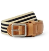 A.P.C. Striped Canvas And Leather Belt Mr Porter