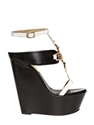 Dsquared 150Mm Two Tone Leather Wedges Luisaviaroma Luxury Shopping Worldwide Shipping Florence