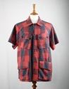 Heritage Research Advisor Shirt 2f 2f Heritage Research Shirt 2f 2f Heritage Research Advisor Shirt in Red and Blue Japanese Patchwork Cotton