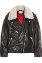 Etoile Isabel Marant Benny Shearling Trimmed Leather Biker Jacket Net A Porter.Com