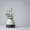 Mjolk Ceramic Flower Vase By Nathalie Lahdenmaki Black White Flower Vase