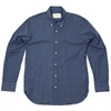 Edifice Paisley Print Button Down Shirt Navy