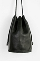 Baggu Leather Drawstring Bucket Bag W E A R