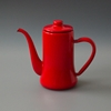 Labour And Wait Japanese Coffee Pot Red