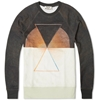 Acne College H.K Crew Sweat Black White Triangle
