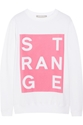 Richard Nicoll Strange Printed Cotton Sweatshirt Net A Porter.Com