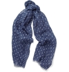 Faconnable c2 a0Anchor and Star Print Linen Scarf c2 a0 7c c2 a0MR PORTER