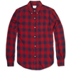 Band Of Outsiders Button Down Checked Shirt Red Navy