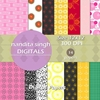I Love U Instant Download Digital Papers By ... Surface Pattern De