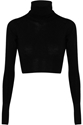 Mm6 Maison Martin Margiela Cropped Wool Turtleneck Sweater Net A Porter.Com