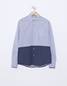 Over All Master Cloth Painted Swingback L S Shirt Navy Nitty Gritty Store