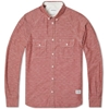 Norse Projects Benno Chambray Shirt Russet Red