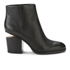 Alexander Wang Women's Gabi Leather Rose Gold Hardware Ankle Boots Black Clothing Free Uk Delivery Over 50