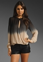 YOUNG 2c FABULOUS 26 BROKE Caliente Ombre Top in Black at Revolve Clothing Free Shipping