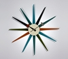 designersrevolt 7c Nelson 27s Sunburst Clock Multicolour CW08 MULTICOLOUR