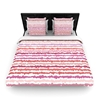 Kess Inhouse Nandita Singh Blush Stripes Pink Striped King Woven Duvet Cover 88 By 104 Inch