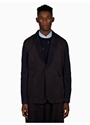 Men's Navy Blue Cotton Cord Two Button Jacket