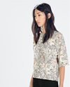 Floral Print Top Nude Collection Woman Collection Aw14 Zara Netherlands