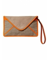 Jute and suede clutch bag with fluo binding Bags 26 Handbags Official Scotch 26 Soda Online Fashion 26 Apparel Shops