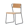 Transit Chair Black Frame Ash Wood Chairs Dining Blue Sun Tree
