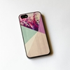 Floral Geometric on Wood iPhone Case iPhone 5 Case door IdeaCase