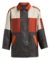 Ostwald Helgason Panelled Raffia And Satin Safari Coat Browns Fashion Designer Clothes Clothing