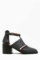 Jeffrey Campbell Melina Cutout Boot Croc At Nasty Gal