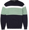 John Smedley Gabe Striped Cotton Sweater Mr Porter