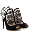mytheresa com Jimmy Choo MAYLEN LACE AND SUEDE STILETTO PUMPS Luxury Fashion for Women 2f Designer clothing 2c shoes 2c bags