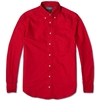 Gitman Vintage Overdyed Oxford Shirt Red