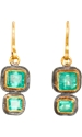 Judy Geib Emerald Small Double Earrings