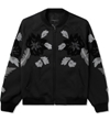 3.1 Phillip Lim Midnight Floral Loop Embroidery Loose Fit Zip Up Jacket Picutre