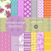 Magical Purple Instant Download Digital By ... Surface Pattern Des