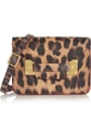 Sophie Hulme Envelope Mini Leopard Print Leather Shoulder Bag Net A Porter.Com