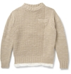 Sacai Satin Lined Chunky Knit Wool Sweater Mr Porter
