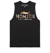 Black Homies Muscle Tee With Gold Foil