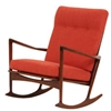 Danish Modern Walnut Rocking Chair By Ib Kofod Larsen