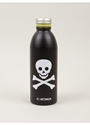 Continua Black Skull and Cross Bones Aluminium Water Bottle 7c oki ni