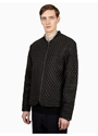 Men's Black Acid Embossed Leather Jacket