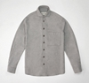 Grey wool cotton semi cutaway shirt e2 80 94 S E H Kelly e2 80 94 Clothes made in England and the British Isles