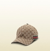 Gucci Gg Pattern Baseball Hat With Web Detail 200035Ffkpg9791
