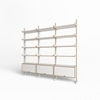 Individual shelf system white as a shelf or in natural birch plywood Interior Park