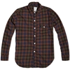 Post Overalls Light Shirt Dark Multi Flannel