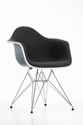 Charles 26 Ray Eames Plastic Armchair R Wire Base DAR with seat upholstery Designed in 1950 Vitra