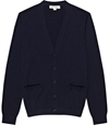 Bredon Navy Long Sleeve Logo Cardigan REISS