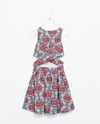 Printed Crossover Dress Trf Dresses Woman Zara United States